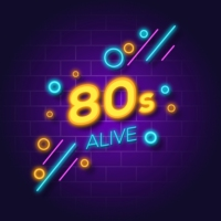Logo of radio station 80s ALIVE