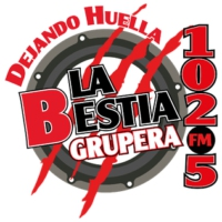 Logo of radio station XHWS La Bestia Grupera 102.5 FM