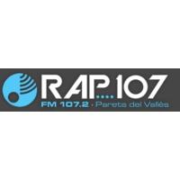 Logo of radio station RAP 107 FM