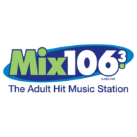 Logo of radio station KJBX Mix 106.3