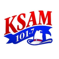 Logo of radio station KSAM 101.7