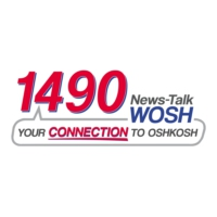 Logo of radio station 1490 AM WOSH Radio