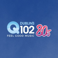 Logo of radio station Dublin's Q102 80s