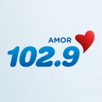 Logo of radio station KLQV Amor 102.9