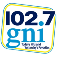 Logo of radio station 102.7 WGNI