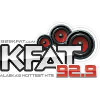 Logo of radio station KFAT 92.9