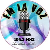Logo de la radio FM 104.3 LA VOZ