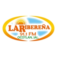 Logo of radio station XHAN La Ribereña 91.1 FM