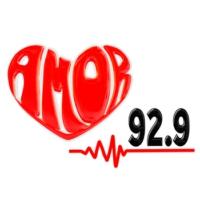Logo of radio station XHER Amor 92.9 FM