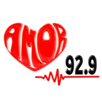 Logo of radio station XHER Amor 92.9 FM