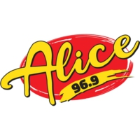 Logo of radio station KQOB-FM ALICE 96-9 FM