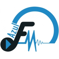 Logo of radio station Azul FM 98.4 & 98.6