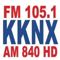 Logo of radio station KKNX AM 840 & FM 105.1