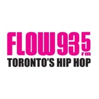 Logo of radio station CFXJ-FM FLOW 93-5