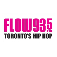 Logo of radio station CFXJ-FM FLOW 93-5