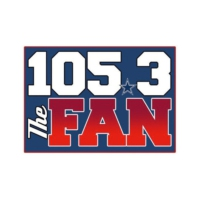 Logo of radio station KRLD-FM 105.3 The FAN