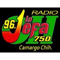 Logo de la radio XHEOH La Jefa 96.1 FM