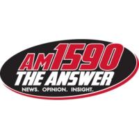 Logo of radio station KLFE AM 1590 The Answer