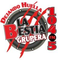 Logo of radio station XHCU La Bestia Grupera 104.5 FM