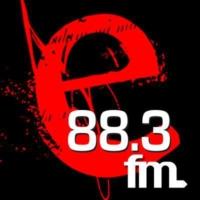 Logo of radio station E FM 88.3