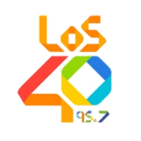 Logo of radio station XHAGA LOS40 95.7 FM