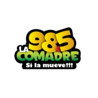 Logo of radio station XHMT-FM La Comadre 98.5
