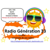 Logo of radio station Radio Génération 33