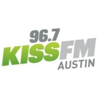 Logo of radio station KHFI-FM 96.7 KISS FM