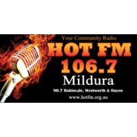 Logo de la radio 106.7 HOT FM