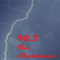 Logo of radio station 98.2 The Shockwave