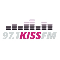 Logo de la radio KKBR 97.1 Kiss FM