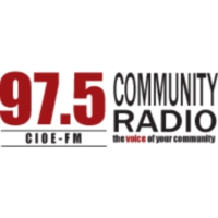 Logo of radio station CIOE-FM Community Radio 97.5