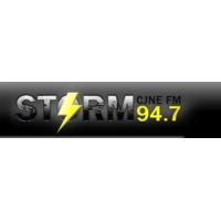 Logo of radio station CJNE FM (The Storm)