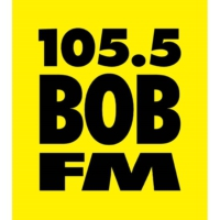 Logo of radio station KEUG 105.5 Bob-FM