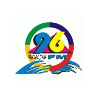 Logo of radio station 96 FM Bauru