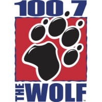 Logo of radio station KKWF 100.7 The Wolf