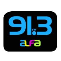 Logo of radio station XHFAJ-FM Alfa 91.3