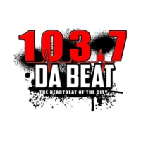 Logo of radio station 103.7 Da Beat