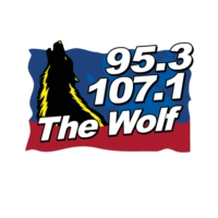 Logo of radio station WXLF 95.3 & 107.1 The Wolf