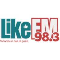 Logo of radio station XHDT Like FM 98.3