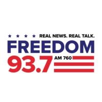 Logo of radio station KDFD Freedom 93.7