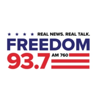 Logo of radio station KDFD Freedom 93.7