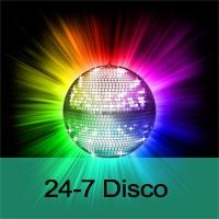 Logo of radio station 24-7 Disco