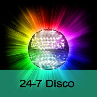 Logo of radio station 24-7 Disco