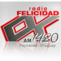 Logo of radio station CX 142 Radio Felicidad