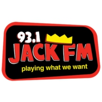 Logo of radio station KCBS-FM 93.1 JACK FM