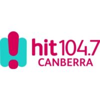 Logo de la radio hit104.7 Canberra