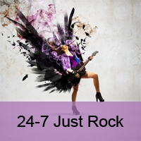 Logo of radio station 24-7 Just Rock