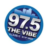 Logo of radio station KSZR 97.5 The Vibe