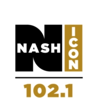 Logo of radio station WNUQ 102.1 Nash ICON
